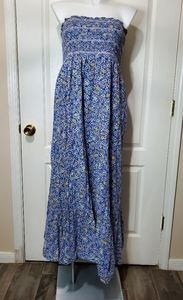 Old Navy Floral Strapless Maxi Dress